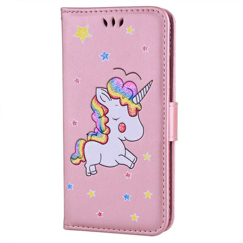 Coque licorne samsung <br> rose kawaii