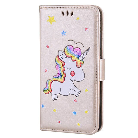 Coque licorne samsung <br> rose pale