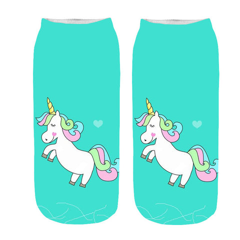 Chaussette licorne turquoise