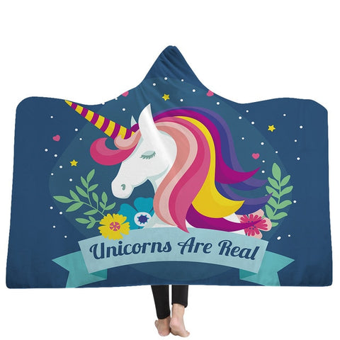 Poncho licorne unicorns are real