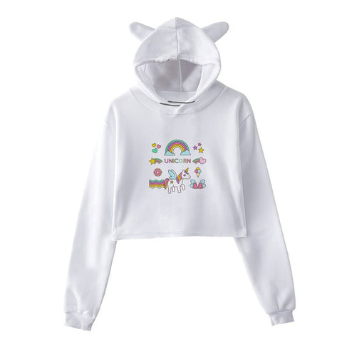 Sweat Licorne <br>Crop Top  Unicorn