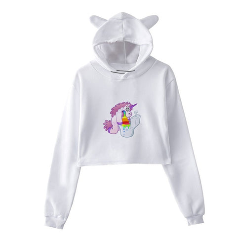 Sweat Licorne <br>Crop Top Toilette