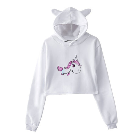 Sweat Licorne <br>Crop Top Bébé