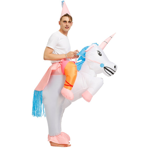 Costume licorne gonflable homme