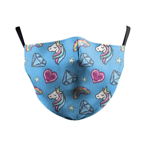 Masque Facial Licorne Bleu Kawaii
