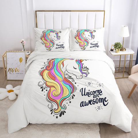 Parure de lit licorne <br> Unicorns are awesome