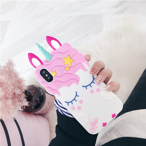 Coque licorne Huawei <br> rose