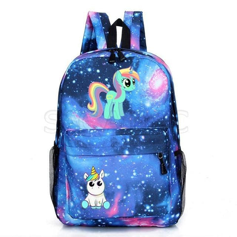 Cartable licorne Bleu Kawaii