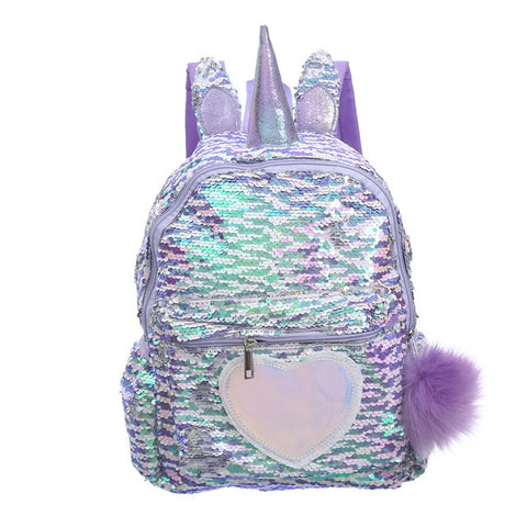 Cartable licorne Coeur Brillant