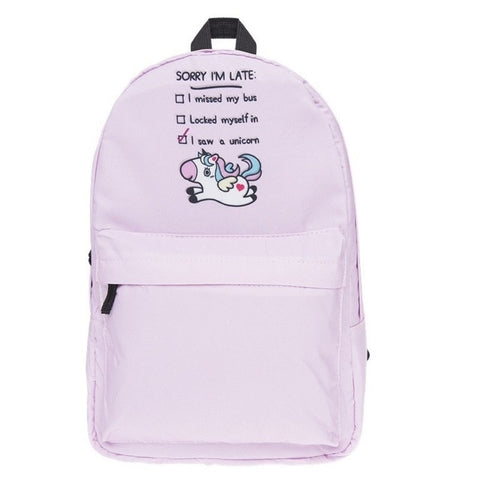Cartable licorne Rose Fuschia