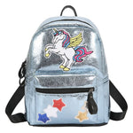 Cartable licorne Gris Scintillant
