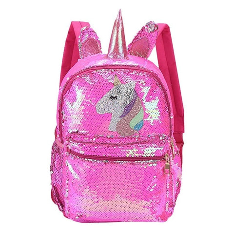 Cartable licorne Rose Brillant