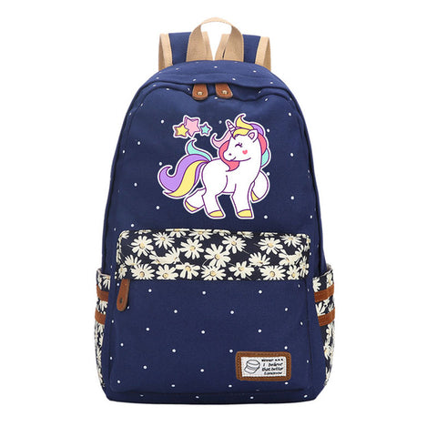 Cartable licorne Bleu Marrin Dessin