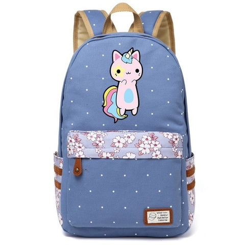 Cartable licorne Chat Kawaii
