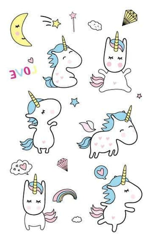 Tatouage licorne minion - Licorne