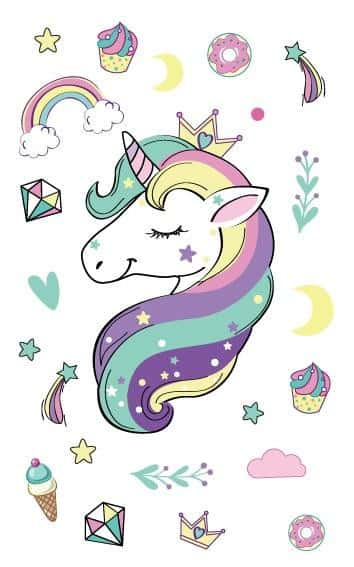Tatouage licorne royal - Licorne