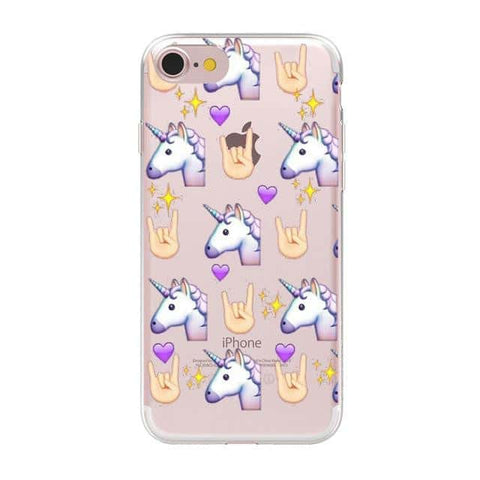 Coque licorne iPhone<br>Multi-Licorne - Licorne