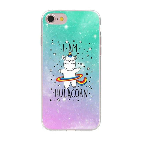 Coque licorne iPhone <br> Hulacorn - Licorne