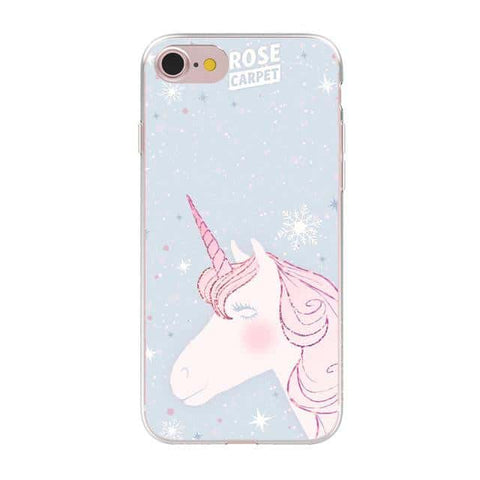 Coque licorne iPhone <br> rose carpet - Licorne