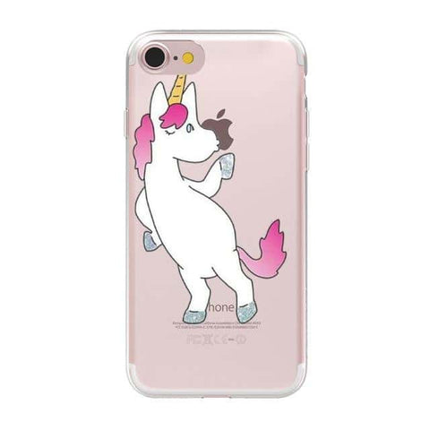 Coque licorne iPhone <br> clin d'œil - Licorne