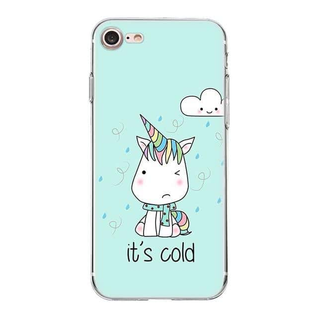 Coque licorne iPhone <br> it's cold