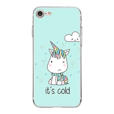 Coque licorne iPhone <br> it's cold - Licorne