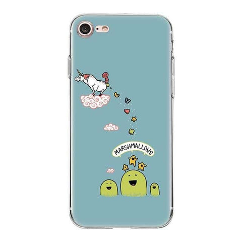 Coque licorne iPhone<br>marshmallows - Licorne