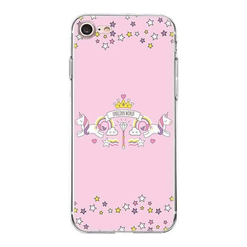 Coque licorne iPhone <br> unicorn world - Licorne