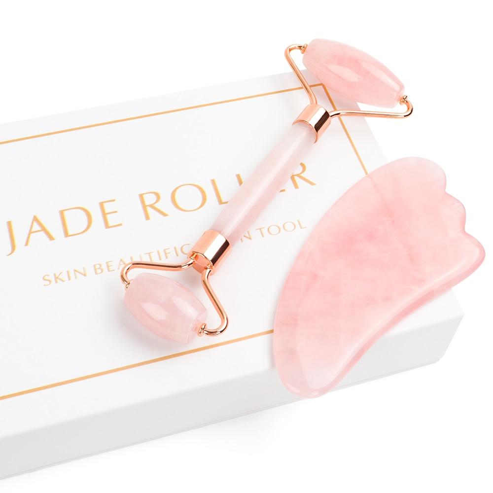 Rose Quartz Beauty Roller - Snake Ice