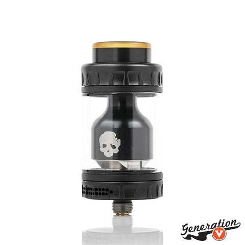 The BLOTTO RTA by DOVPO x Vaping Bogan is a generous rebuildable tank atomizer spotlighting a large 6mL bubble glass capacity, ingenious airflow control set up, and possesses a dual post build deck with four open terminals for larger unique coil configurations.