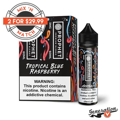 Tropical Blue Raspberry by Prophet Premium E-Liquid has created a delectable line of fruity Salt Based Nicotine e-liquid. Soft and fuzzy peaches, each bite tickling your taste buds with sticky sweetness.