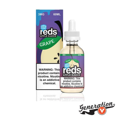 Grape Reds Apple Iced E-Liquid by 7 Daze is a freshly cut, crisp red apple juice rendition. Tastes like a grape apple on the inhale and has a cool, menthol feel on the exhale!