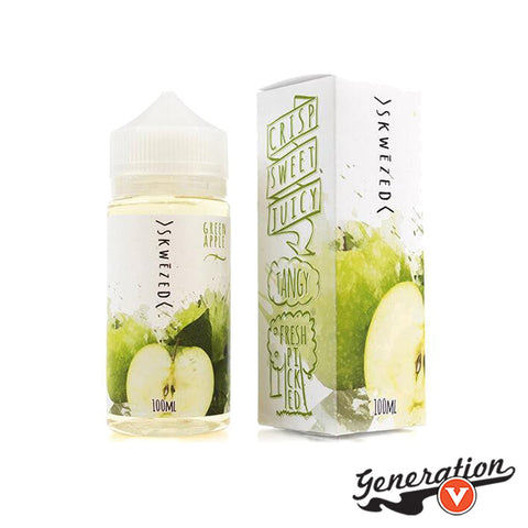 Green Apple by SKWEZED E-Liquid is a crisp, ripe, aromatic, fresh green apple! Straight from the orchard.