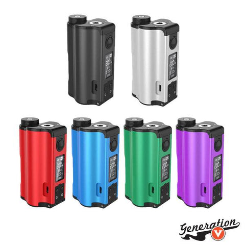 The DOVPO TOPSIDE DUAL 200W Squonk Box Mod is an updated rendition crafted in collaboration with The Vapor Chronicles, presenting a polished dual 18650 platform while maintaining the innovative top-fill squonk designs and upgraded power chipset!