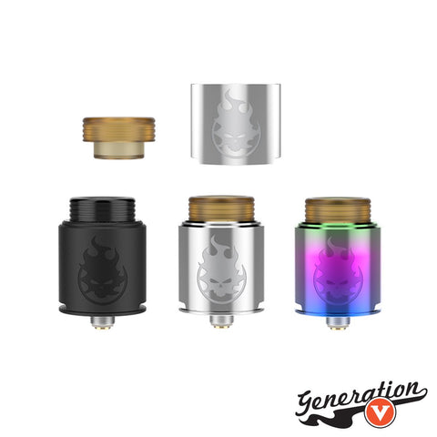 The Vandy Vape Phobia RDA delivers a quality-machining 24mm rebuildable dripper with a postless-like design with four terminal posts for vertical installation and a unique dual airflow design.