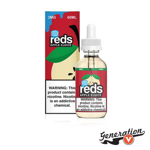 Red's Apple ICED E-Liquid by 7 Daze is a fabulous flavor of freshly cut, crisp apples. This amazing vape tastes like apples on the inhale and has a cool, menthol feel on the exhale!