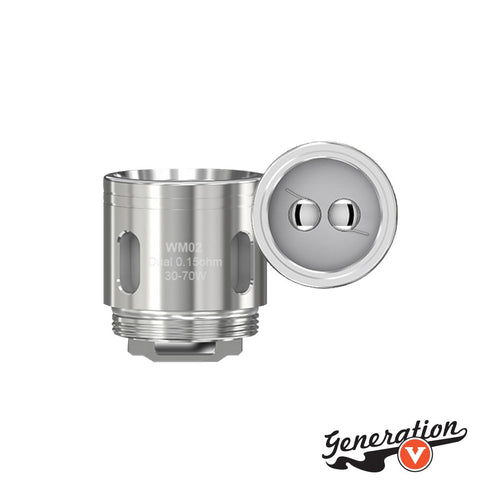 The Wismec Gnome WM Dual 0.15 ohm Replacement Coils are replacement coils for the Gnome and Gnome Evo Sub-Ohm Tank.