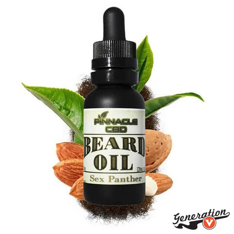 Pinnacle Hemp's Sex Panther Beard Oil is a combination of wooded mountains and rainbows.