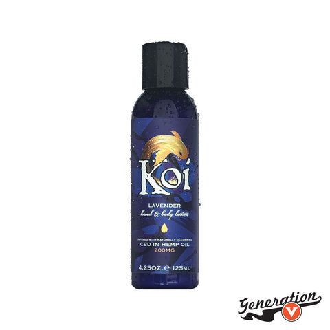 Soothe yourself! Fusing 200 mg of all-natural CBD with organic aloe, organic coconut, and lavender extracts, Koi's topical CBD lotion combines the skin-healing power of organic extracts with the restorative power of CBD.