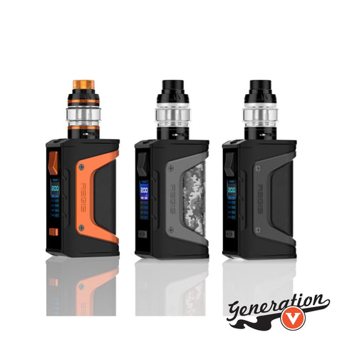 The Aegis Legend Box Mod by Geek Vape is a 200W box mod that is designed to be both durable and reliable for the intentions of avoiding damage by accident, featuring military standard 810G-516.6 shockproof system and an IP67 waterproof and dustproof system, and can be powered by using dual high amperage 18650