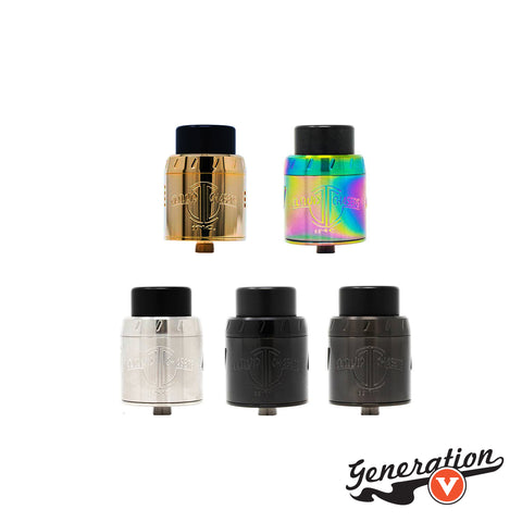 The Centurion v2 RDA from CCI is the souped-up big bad dripper your mother warned you about! Sporting dual clamp posts for ultra-versatile usage with huge coils and tiny ones alike. This 30mm RDA is ready to handle any size coil build you throw at it!