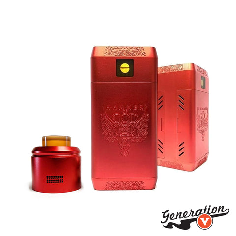Vaperz Cloud Hammer of God v4.1 HOG. Available in Red.