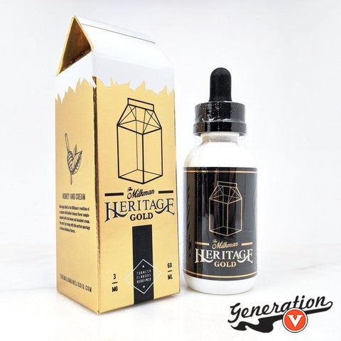 Heritage Gold by The Milkman E Liquid brings you a sweetened cream and honey drizzled tobacco that is smooth and yet bold simultaneously.