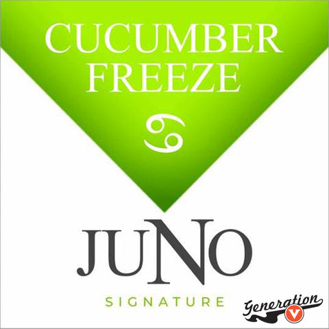 Twelve's Cucumber Freeze replacement pods are part of the Juno Signature Collection. Easy to use. Thanks to the 36mg or 48mg nicotine content it gives you the hit you're looking for. Each pack comes with 4 replacement pods.