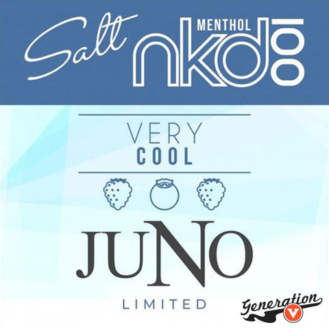 Juno Very Cool Pods 4 Pack by Naked 100 Salts E-Liquid is a blend of Blueberries, blackberries, and raspberries. Created for Juno by Twelve Vapor in Collaboration with Naked 100 E-Liquid.