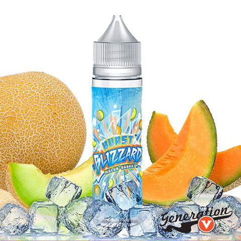Melon Brrrst is a Cantaloupe and Honeydew melon vape juice with an icy chill of menthol.