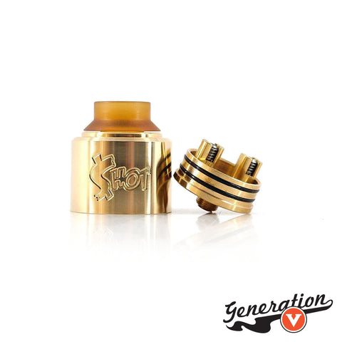 The Money Shot RDA by Purge Mods is designed to fit perfectly onto the Purge Mods Slam Piece. The 30mm diameter, internal walling of 3mm and fixed airflow is perfect for a very flavorsome vape. The two post system allows for easy builds with 2 large posts.