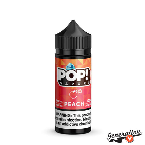 Peach Gummies Ice by Candy POP! takes chewy peach gummies and mixes it with a refreshing mentholated gust, for a frosty sweet peach candy vape blend.
