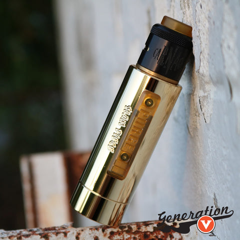 Purge Mods presents the Slam Piece Mech Mod! This highly versatile heavy duty mechanical vaping platform boasts Purge Mods' first side fire design standing alongside a battery rattle adjustment compatible with 18650, 20650, 20700, and 21700 batteries.