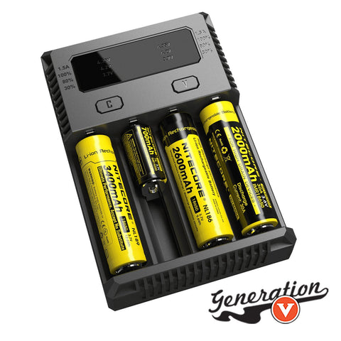 The Nitecore NEW i4 Battery Charger Intellicharger 2016 version has finally arrived! This highly anticipated upgrade to Nitecore's popular i4 battery charger comes with 100% faster charging speeds up to 1500mAh, expanded battery support for 3.7 and 4.35v batteries plus an improved display.